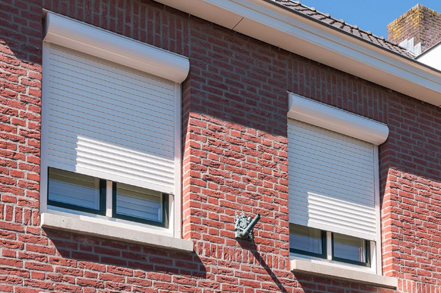 An Image Representing The Front View of Windows With Roller Shutter.